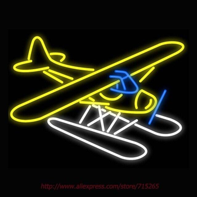 neonlampen havilland bever float vliegtuig neon sign licht lampen bewegwijzering vintage borden logo echte glazen auto