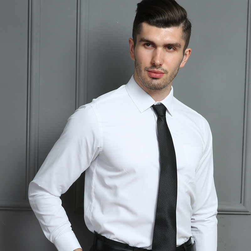 2019 Spring Brand Men Shirt Fit Striped Business Formal Shirt Long Sleeve Mens Dress Shirts Plus Size Office Work Male Tops 7XL