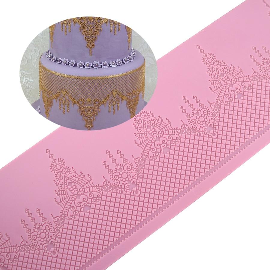 390mm * 110mm Silikon tort krujeva qəlibdən hazırlanmış çörək - Mətbəx, yemək otağı və barı - Fotoqrafiya 1