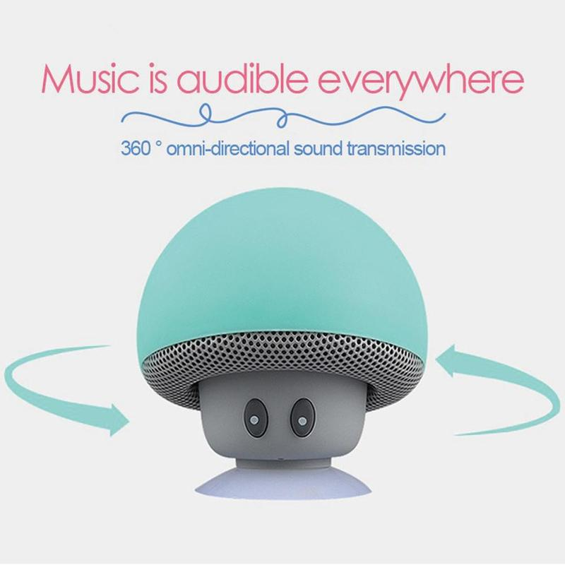 Cartoon <font><b>Bluetooth</b></font> <font><b>Speakers</b></font> Mini Mushroom Shape <font><b>Bluetooth</b></font> <font><b>Speakers</b></font> Waterproof Wireless <font><b>Speakers</b></font> image