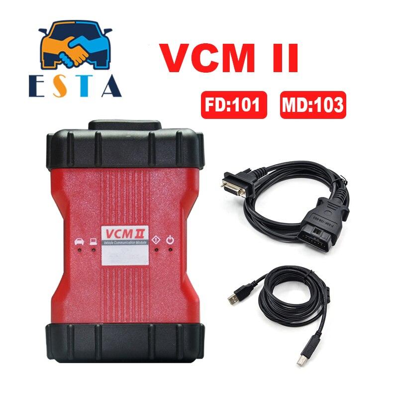 Prix pour 2017 Haute Qualité A + VCM II V101 De Diagnostic Scanner pour f-ord pour mazda VCM2 IDS Soutien-FD Véhicules IDS VCM 2 OBD2 Scanner