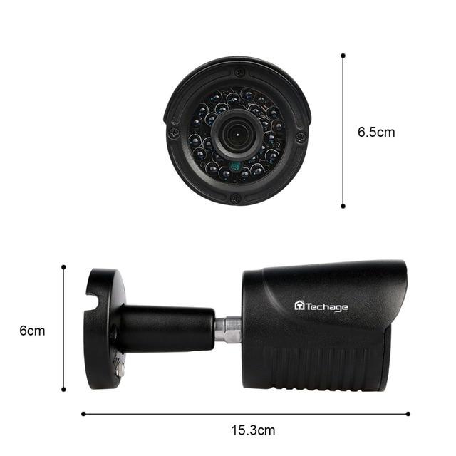 Techage 4CH 1080P HDMI Output DVR Kit AHD CCTV System 4PCS 720P 1.0MP Camera Outdoor AHD-M Video Security Surveillance DIY Kit