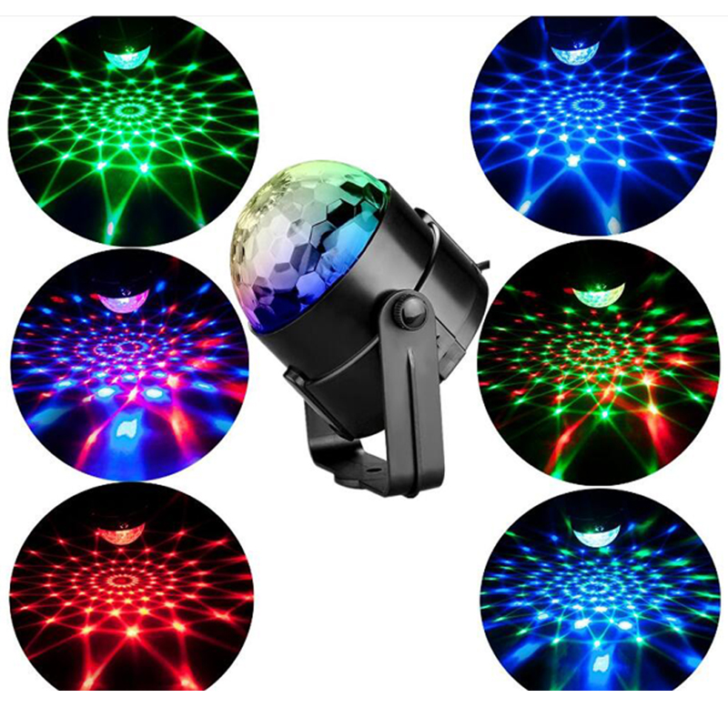 3W Mini RGB Crystal Magic Ball Sound Activated Disco Ball Stage Lamp Lumiere Christmas Laser Projector Dj Club Party Light Show (8)