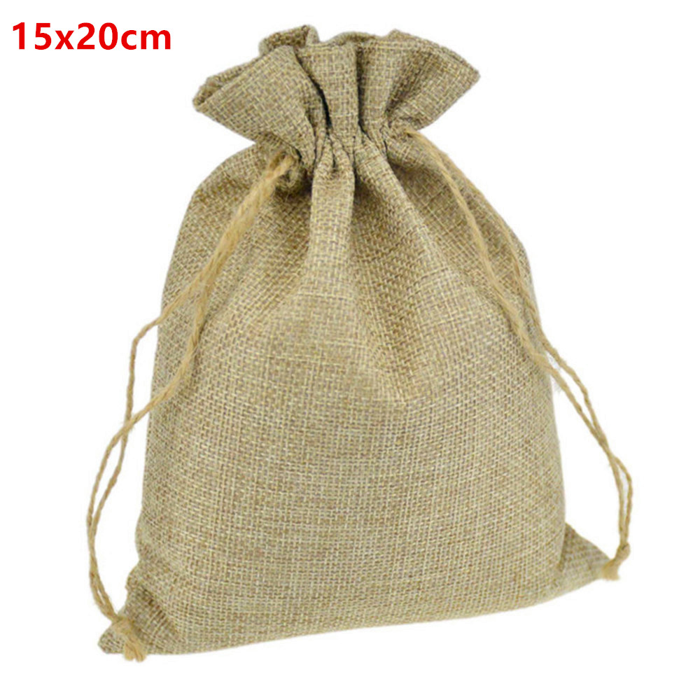 Burlap Wedding Favor Bags Wholesale : ... Wedding Favor Bomboniera Christmas Gift Phone Storage Burlap Juta Bags