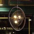 Лофт стиль кованого железа вентилятор Droplight Эдисона промышленные винтажные подвесные светильники для столовой подвесной светильник освещ...
