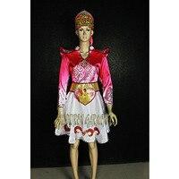 High Quality Custom Made Women Or Children Russian National Dress With Headwear,Folk Dancing Dresses Drop Shipping Free Shipping