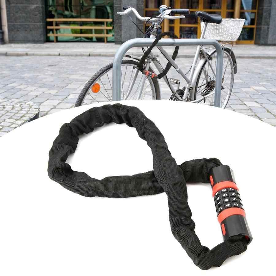 Новый 4 цифры код Комбинации велосипед безопасности кодовый замок проводки уход за кожей лица маска Велосипедный спорт мотоцикл Анти-кражи цепной замок для велосипеда Стекло двери