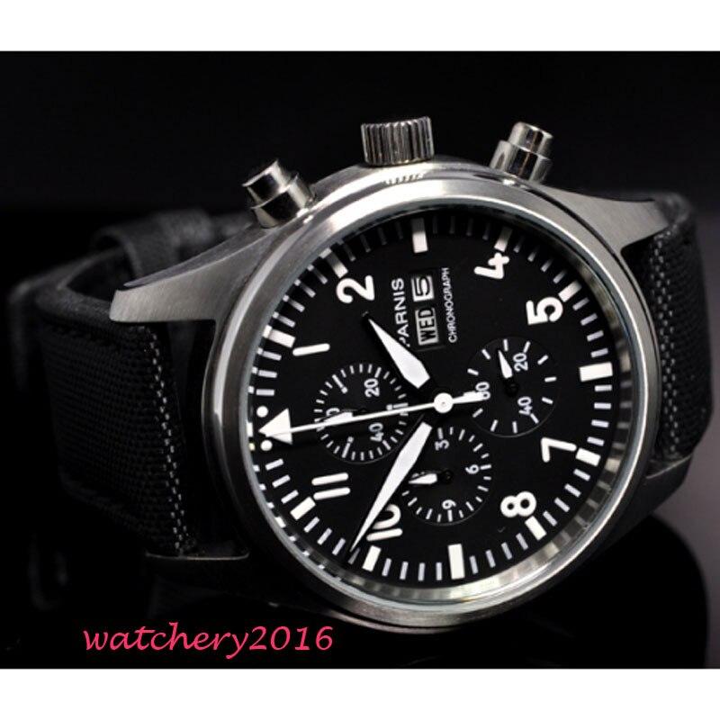 OCHSTIN Мужские кварцевые часы из нержавеющей стали с сетчатым ремешком черные спортивные часы мужские часы с хронографом Топ бренд Relogio Masculino - 3