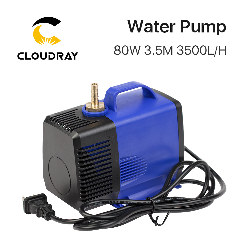 Submersible Water Pump 80W 3.5M 3500L/H IPX8 220V for CO2 Laser Engraving Cutting Machine цена и фото