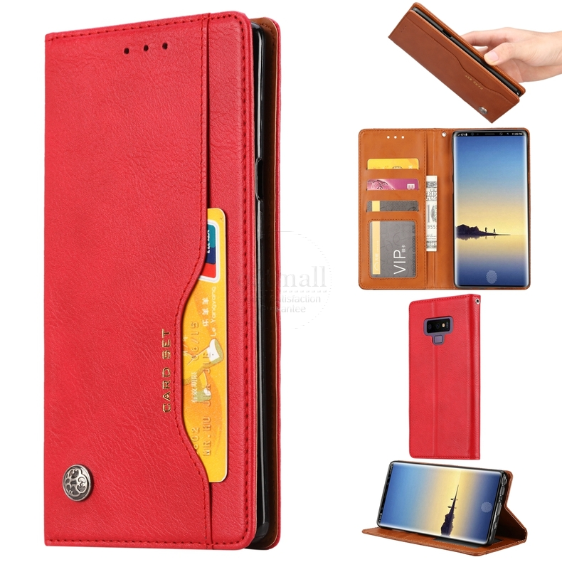 Positive Cover Compatible with Samsung Galaxy Note 10 Gold PU Leather Wallet Flip Case for Samsung Galaxy Note 10