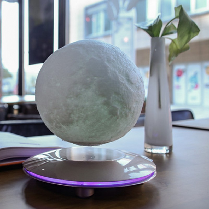 3D Printing Magnetic Levitation Rotation Moonlight Moon LED Night Light Touch Control Interior Decoration Children Holiday Gift fenglaiyi magnetic levitation rotary 3d print 15 cm moonlight moon led night light home decor kid birthday christmas gift light
