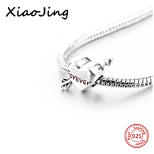 925 Sterling Silver Love Heart Charms Beads with Enamel Fit Authentic European Bracelet Pendants diy fashion jewelry making gift