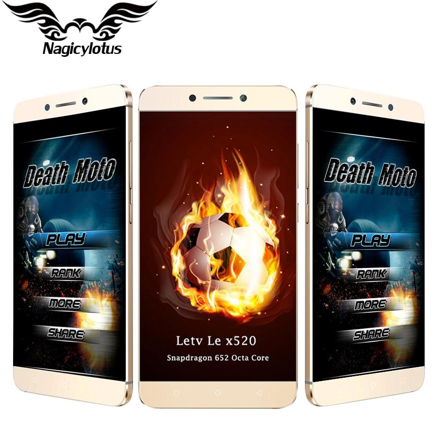 100% Original Letv 2 Le 2 LeEco X520 Mobile Phone Dual SIM 5.5'' Octa core Snapdragon 652 Android 3GB 32GB 16MP LTE Fingerprint