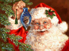 40x50cm FATHER Christmas Tree  Diy diamond painting kits cross stitch square drill rhinestone pasted