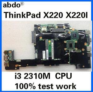 Suitable for Lenovo ThinkPad X220 X220I notebook motherboard FRU 04Y1842 04W06960 4W3302 04W2123 CPU i3 2310M 100% test work