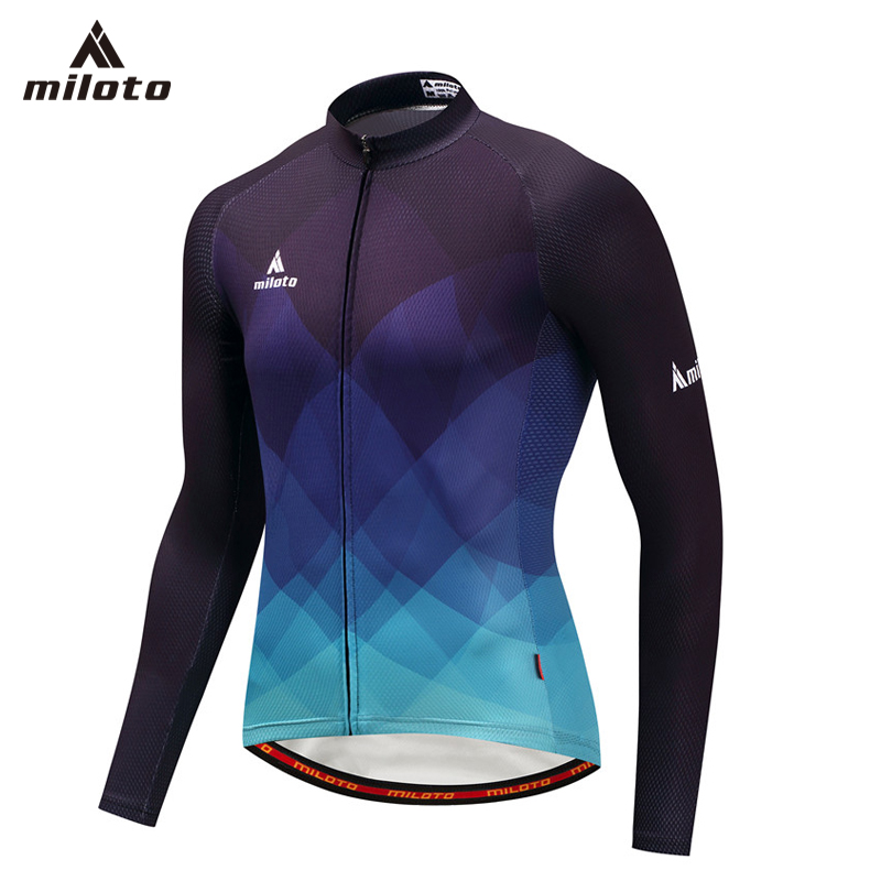 MILOTO Cycling Jersey Full Length Male Breathable MTB Bicycle Clothing Mans Bike Clothes Maillot Roupa Ropa De Ciclismo Hombre Cycling Jerseys     - title=