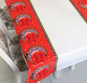 Image 3 - Muslim EID Disposable TableCloths Ramadan Table Cover Tablecloth Waterproof For Moslem Islamism Decoration 180*110cm 3 Styles