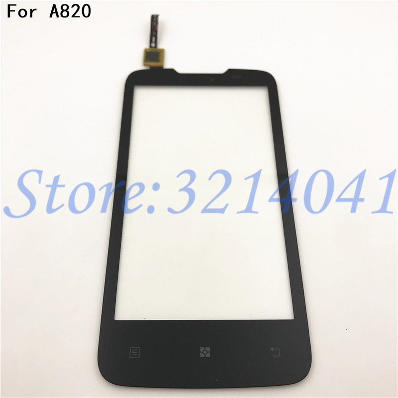 4.5 Inches Touch Screen For Lenovo A820 A 820 Touch Screen Digitizer Sensor Front Glass Lens Panel+Tracking Number