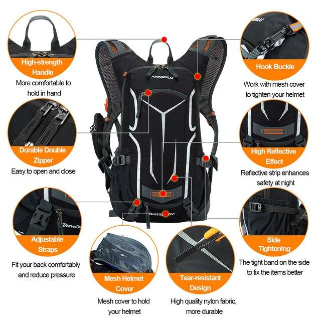Online Shop ANMEILU 18L Climbing Rucksack Cycling Backpack Men Women ... 71e9bd34f561a