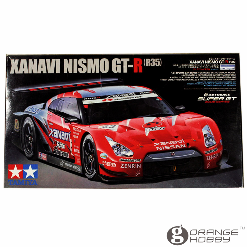 OHS Tamiya 24308 1/24 Xanavi Nismo GTR R35 Scale Assembly Car Model Building Kits oh for nissan gtr gtr r35 led tail lights 2007 red