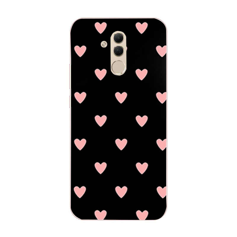 Case Op Voor Coque Huawei P20 P40 Lite E P30 Pro Mate 20 10 Lite P Smart 2019 Honor 8X gevallen Bloem Hart Soft Silicone Cover