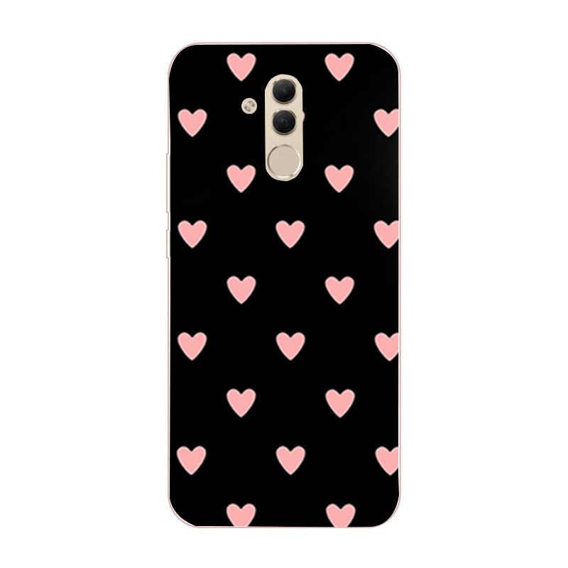 Funda para Coque Huawei P20 Lite P30 Pro Mate 20 Lite P Smart 2019 fundas flor corazón suave funda de silicona