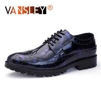 Men Formal Shoes Leather Men Dress Shoes Luxury Fashion Oxford Shoes For Men Party Wedding brogue shoes men Big Size 38 47