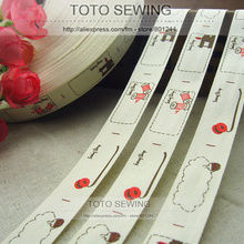 Cotton Sewing-Label -Size Is -15 Mix-Order TOTO Zakka 2cm-Width --9 F001