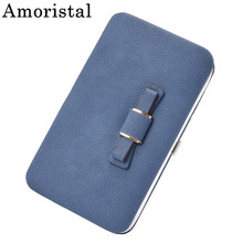 Bowknot Female Purse Famous Brand Card Holder Cellphone Pock