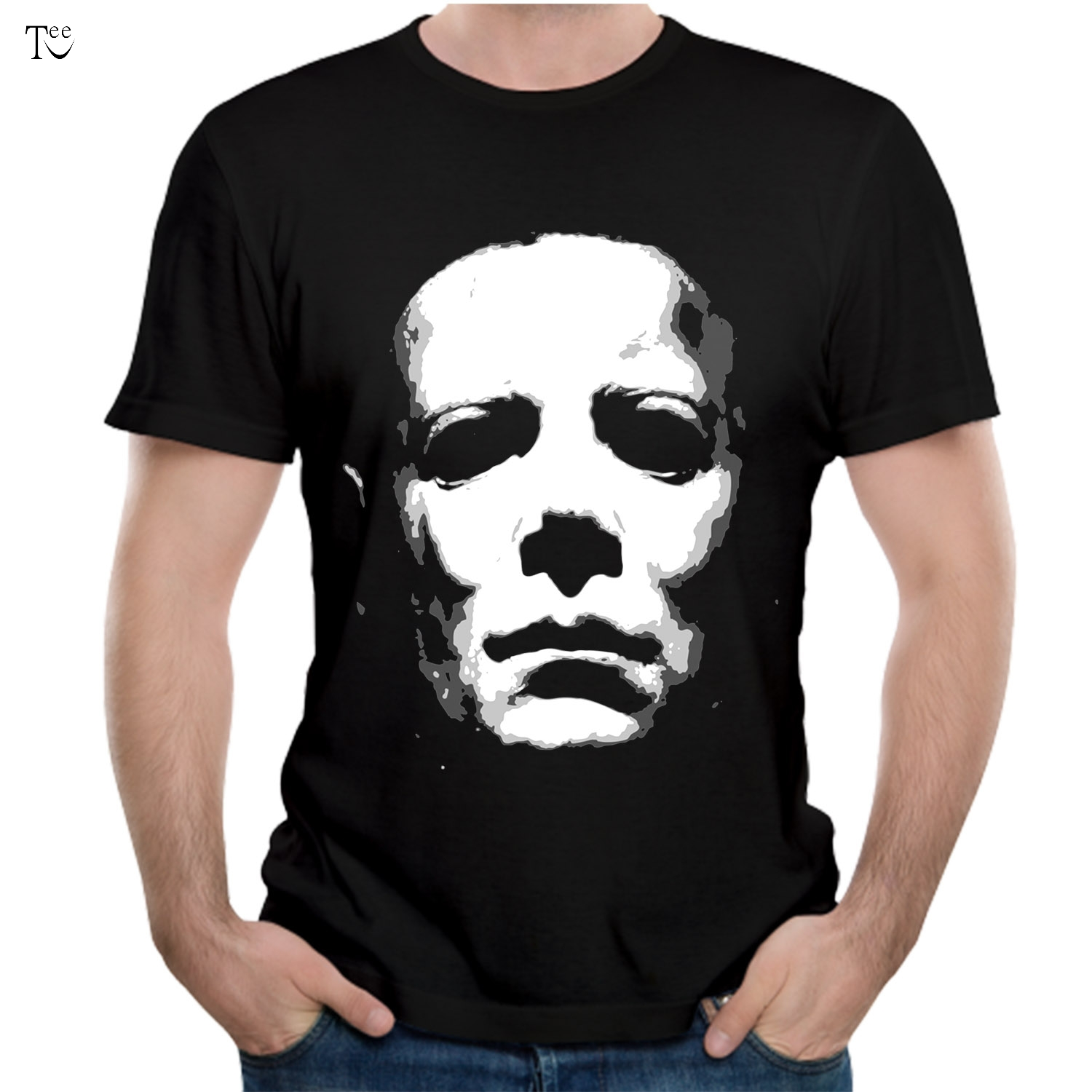 Michael Myers T shirt Halloween Tees Horror t shirt Plus size Top design Nice Short-sleeved Fashion ...