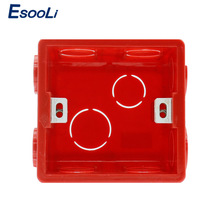 Esooli Adjustable Mounting Box Internal Cassette 86mm*83mm*50mm For 86 Type Switch and Socket Wiring Back Box