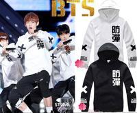 KPOP BTS Bulletproof Youth Club Fleece BTS Easing Round Collar Fleece Hooded Sweatshirts Coat BTS Bangtan