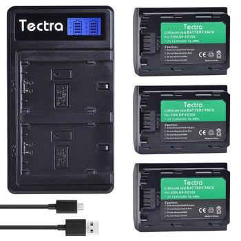 3PCS 2280mAh NP-FZ100 NPFZ100 NP FZ100 Battery+LCD Dual USB Charger for Sony NP-FZ100, BC-QZ1, Sony a9, a7R III, a7 III, ILCE-9