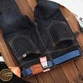 Hot 2016 Nuevo Envío de La Manera Azul Oscuro Color Delgado Recto Marca Leisure & Casual Jeans Hombres de La Venta Caliente de Mezclilla de Algodón de Los Hombres Jean