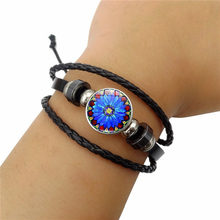 Bangles Bangle New 2019 Simple Fashion Men's Mandala Time Gem - Woven Beads Bracelet High Quality Leather Jewelry Accessories(China)