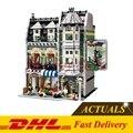 LELE 30005 DHL Lepin 15008 Rua Da Cidade Criador Merceeiro Kits Modelo de Construção Tijolos Blocos Compatível Com 10185