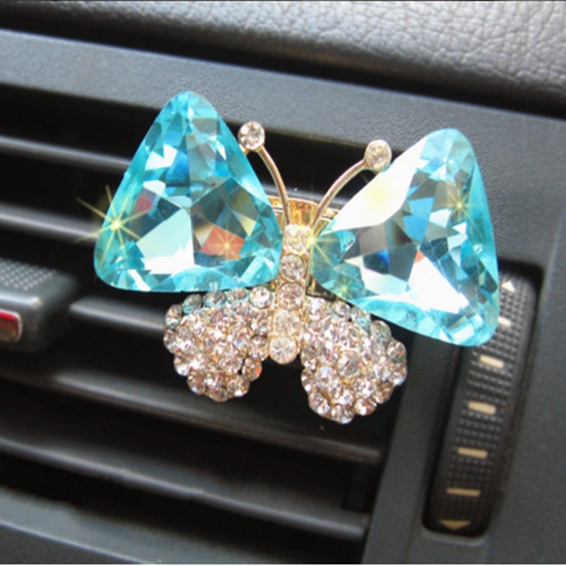 Crystal Butterfly parfum voiture Outlet Perfumes Air Freshener Flavoring Spirit Solid Perfume flavors & Women perfume carro Home