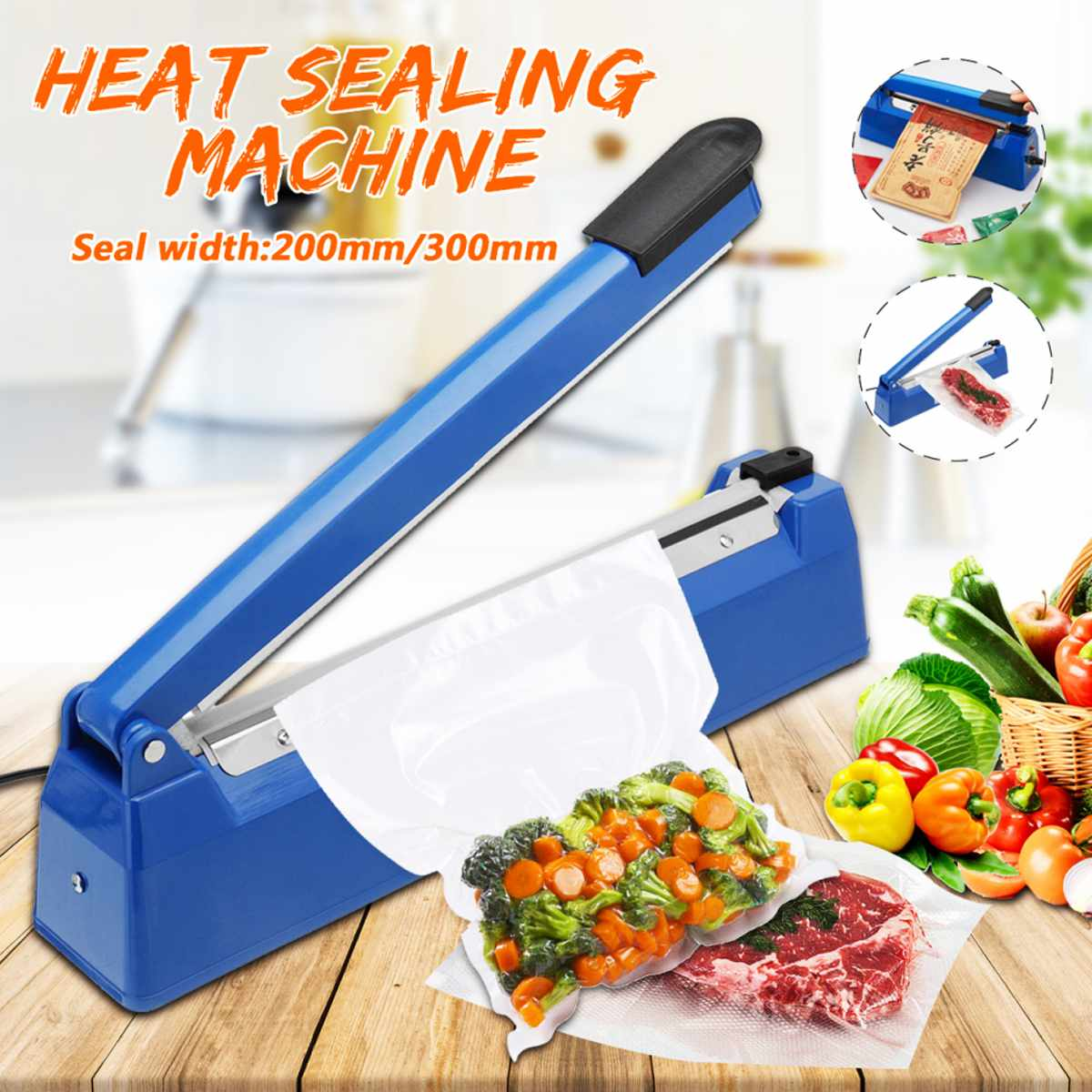 200mm to 300mm High Temperature Resistant Electric Vacuum Food Sealer with Excellent Cooling Base to Keep the Food Fresh 6