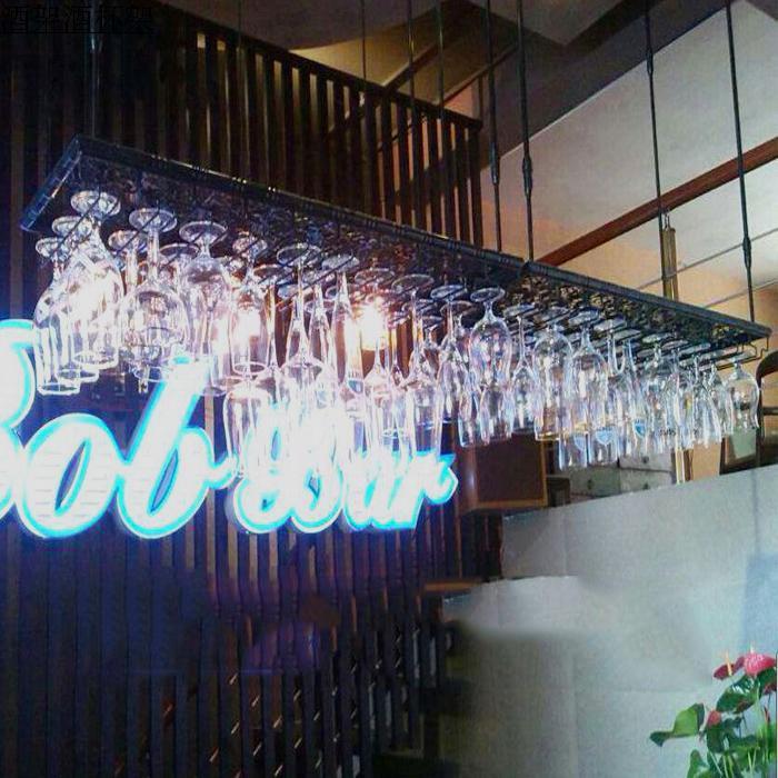 porte gobelet a vin rouge 180 35cm mise a niveau bar porte verre support suspendu etagere murale support de verre