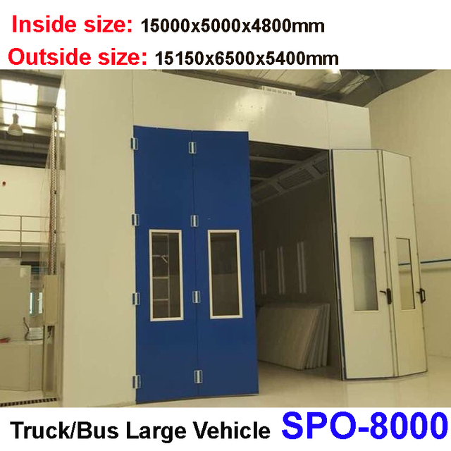 Spo 8000 Truck Spray Bake Booth For Sale Car Spray Booth Oven Bus