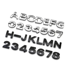 1 Piece 2.5*2.5cm Car Auto Chrome Metal DIY Logo Automobiles 3D Letters Digital Alphabet Emblem Stickers
