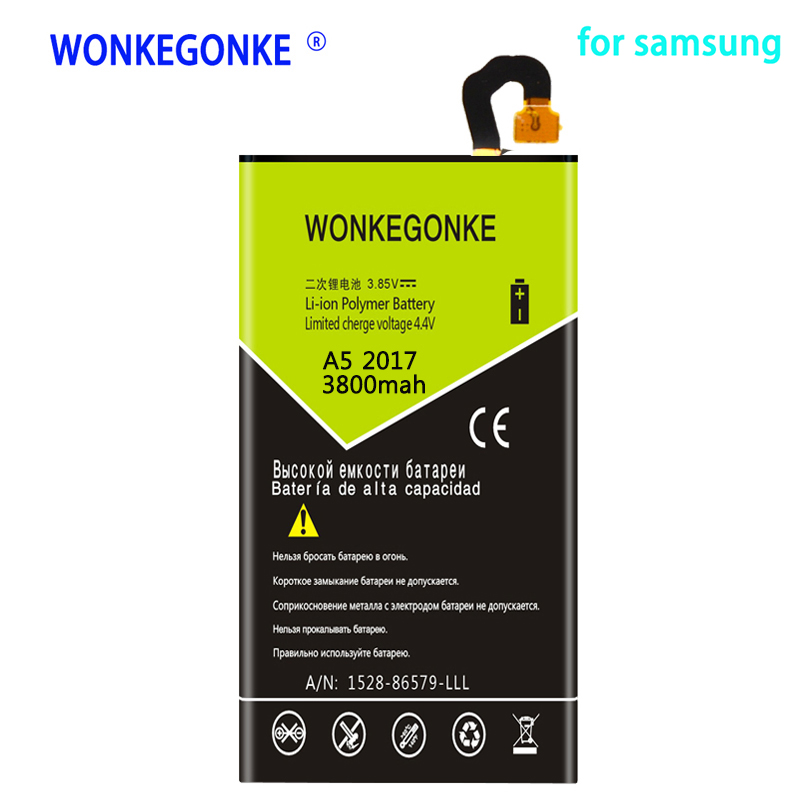 Mobile Phone Parts Intellective Wonkegonke 3800mah Eb-ba520abe For Samsung Galaxy A5 2017 A520f Sm-a520f 2017 Edition Battery High Quality As Effectively As A Fairy Does