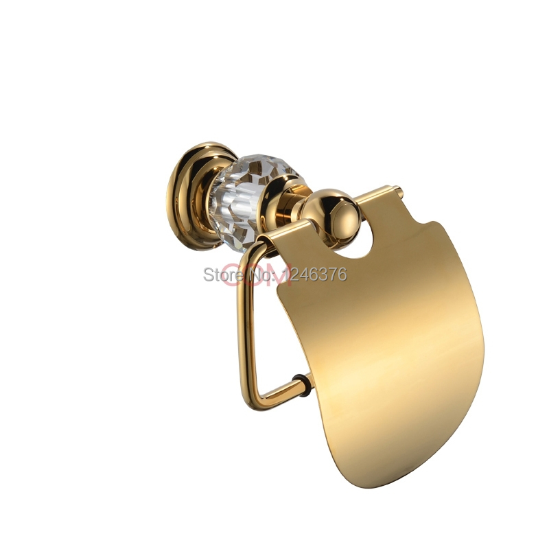 Bathroom Accessories Luxury Crystal Amp Brass Gold Paper