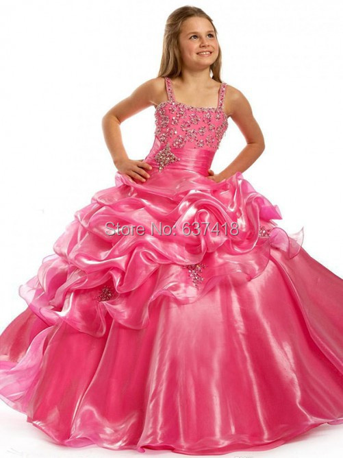 Popular Pink Princess Pageant Dresses-Buy Cheap Pink Princess ...