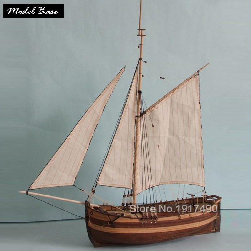Wooden Ship Models Kits Diy Educational Train Hobby Ship Model 3d Laser Cut Wood Scale Model 1/50 Chapman boat size485*113*553mm ingermanland 1715 model ship wood
