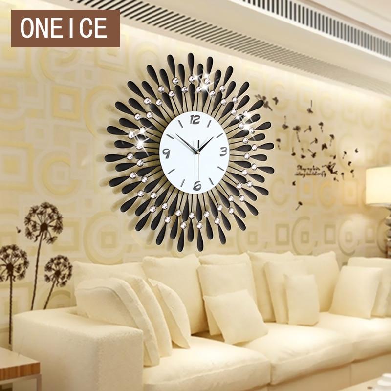 Free Shipping Luminousness brief fashion wall clock modern silent watch Large fashion diamond clock