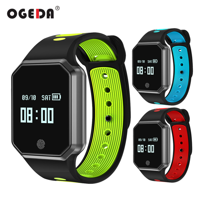 OGEDA Men Smart Watch Smart Bracelet Blood Pressure Monitor Activity Tracker Women Heart Rate Smart Wristband Step Calories QW11 bluetooth smart wrist watch blood pressure watches bracelet heart rate monitor smart fitness tracker wristband for android ios