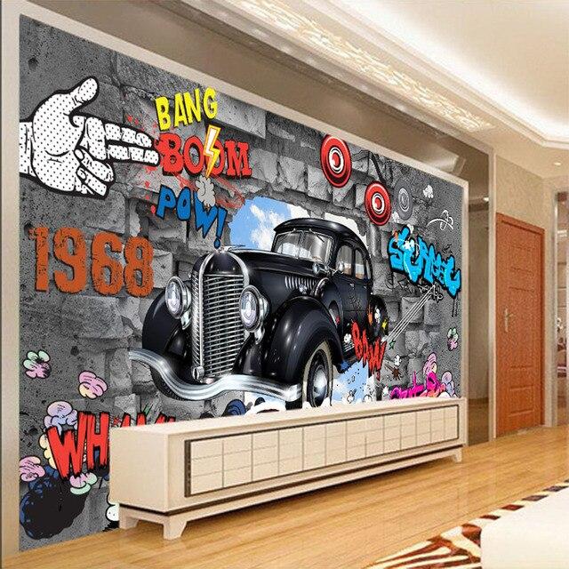 Keren Graffiti Bang Boom 3d Wallpaper Untuk Dinding 3d