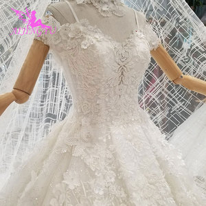 Image 5 - AIJINGYU Shiny Wedding Dresseses Real Photo Modest Bridals Indian Sexy Price Big Size Garden Gown Wedding Dress Accessories