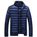 2016 Novo Outono & Inverno Homens Casual Ultra light Duck Down jaquetas Leves Mens Slim Fit Pato Para Baixo Casacos Plus Size M-3XL